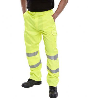 B Seen Hi Vis Polycotton Combat Trousers PCTEN